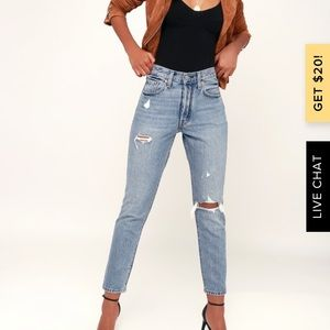 Levi's 501 Skinny Distressed Light Wash Jeans